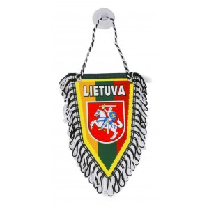 Pennant with Lithuania's symbol